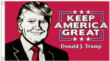 Donald Trump Cartoon 'Keep America Great ' 5'x3' Imported Flag